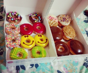 colourful, desserts, and donuts image