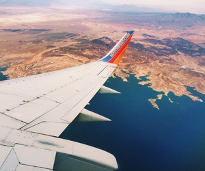 adventure, airline, and airplane image