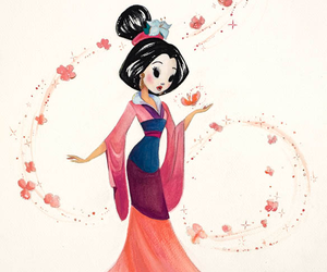 disney, mulan, and art image