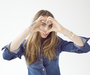 cara delevingne, model, and heart image