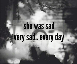 sad, grunge, and smoke image