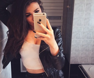 girl, iphone, and clothes image