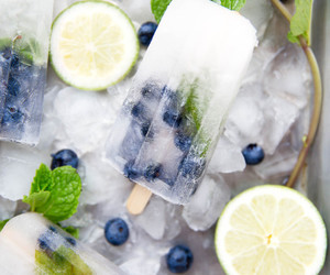 food, ice, and fruit image