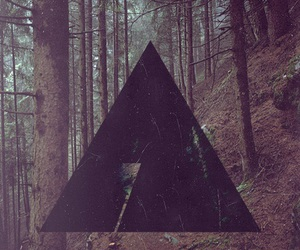 hipster, forest, and triangle image