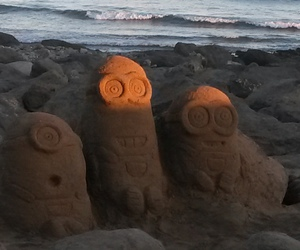minions, sand, and sweet image