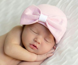 adorable, cap, and sleeping image