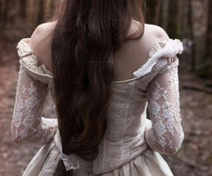 corset, dress, and fairytale image