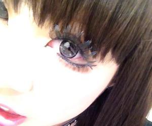 beautiful, dark, and eye image