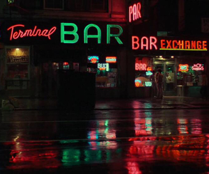 bar, light, and neon image