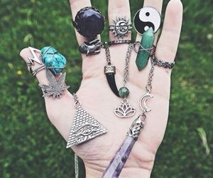 rings, crystal, and tumblr image