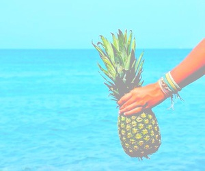 bright, pineapple, and summer image
