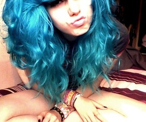 alternative, blue hair, and nose image