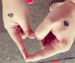 couple, tattos, and love image