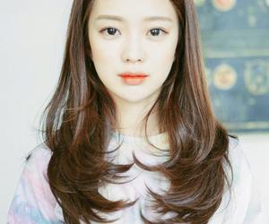 big eyes, girl, and hair image