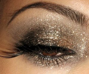 eyes, make up, and sparkly image