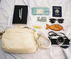 camera, bag, and fish image