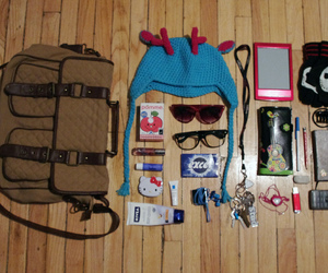 bag, beach, and camera image