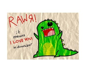 love, dinosaur, and I Love You image