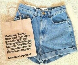 american apparel, fashion, and shorts image