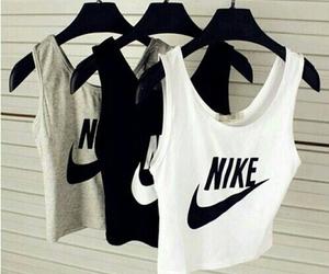 nike, black, and white image