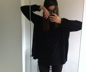 black, cool, and pale image