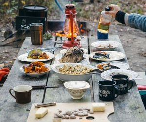 food, camping, and photography image