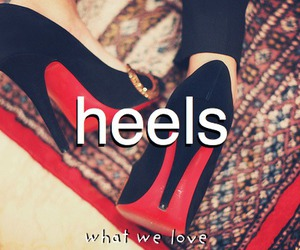 heels, fashion, and high heels image