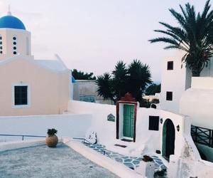 blue, Houses, and santorini image