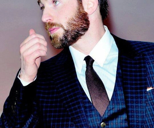 chris evans, captain america, and handsome image