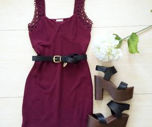 belt, boutique, and burgundy image