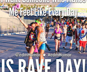couple, rave, and edm image