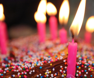 candles, sprinkles, and sweet image