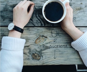 coffee, awesome, and morning image