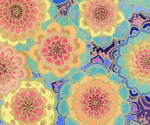 wallpaper, doodle, and flowers image