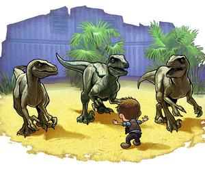 chibi, dinosaur, and jurrasic world image