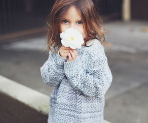 girl, flowers, and cute image