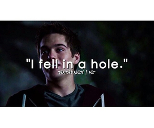 hole, lol, and teen wolf image