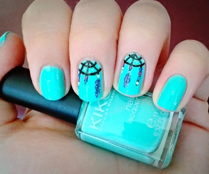 black, dreamcatcher, and nails image