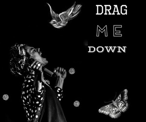 black, down, and drag image