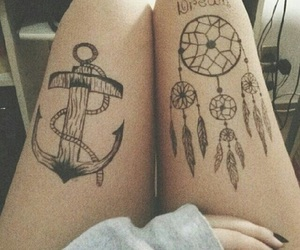 tattoo, Dream, and anchor image