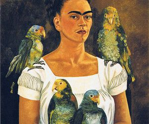 1941, frida kahlo, and me and my parrots image