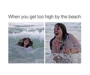 beach, funny, and high image