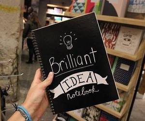 notebook, ideas, and book image