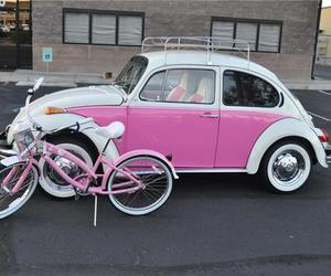 car, beetle, and pink image