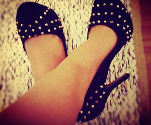 shoes, black, and spikes image