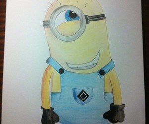 art, draw, and minions image