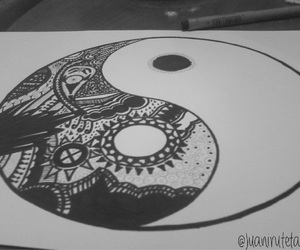 blacknwhite, draw, and equilibre image