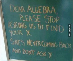 algebra, funny, and x image