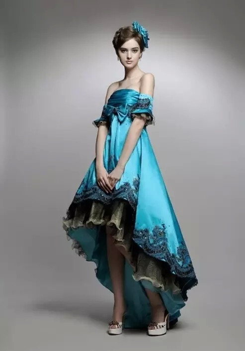 beauty, fashion, and prom gown image