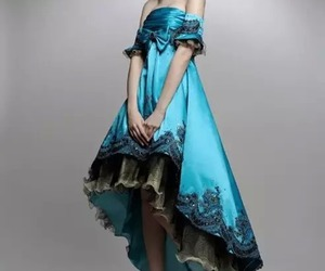 fashion, beauty, and prom gown image